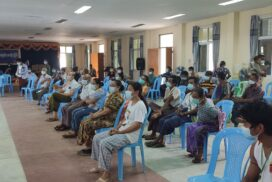 Local people receive 2nd dose of COVID vaccines in Monywa