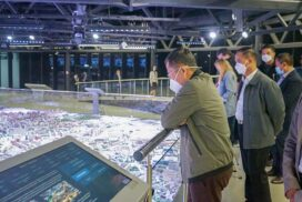 State Administration Council Vice-Chairman  Vice-Senior General Soe Win and party visit Exhibition of Achievements of National Economy