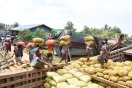 Myanmar-Bangladesh border trade decreases $16 mln this FY