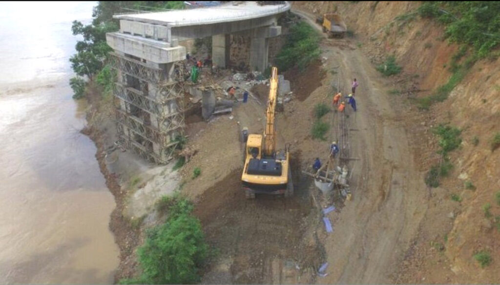 Construction of two-lane Thanlwin Bridge  (Tahsan) completed by 17%