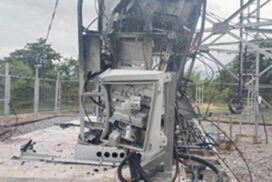 Terrorists destroy telecommunication towers in Sagaing, Mandalay regions