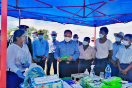 Sagaing Region Chief Minister makes inspection tour in Shwebo