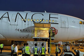 One million doses of COVID-19 vaccine from China arrive at Yangon Int'l Airport