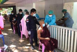 Monks, nuns receive COVID vaccines in Sagaing, Bago regions