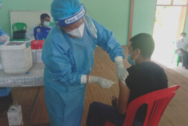 COVID-19 vaccination continues for above 18-year-olds in Dawphonyang