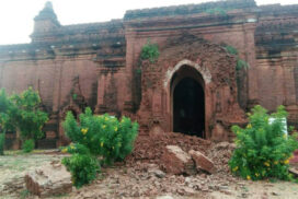 Heavy rainfall damages some ancient temples in Bagan cultural zone