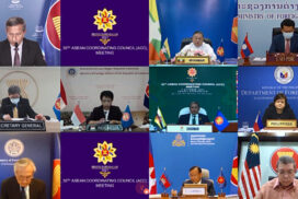 Union Minister U Wunna Maung Lwin participates in ASEAN Foreign Ministers' Meeting, 24th ASEAN Political-Security Community Council Meeting, 30th ASEAN Coordinating Council Meeting held via videoconference