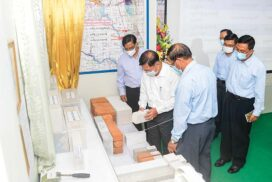 SAC Chairman Prime Minister Senior General Min Aung Hlaing inspects Mother Industrial Co., Ltd in Insein Township