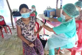IDPs in MraukU receive 2nd dose of Sinopharm COVID vaccines