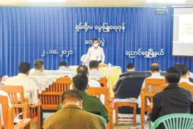 State Administration Council Chairman Prime Minister Senior General Min Aung Hlaing inspects Shan Yoma livestock zone in Ayethaya Industrial Zone, pays homage to Inlay PhaungdawU Pagoda