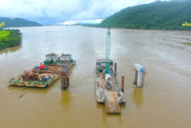 Min Than-Moung Hlaw Bridge project completes 30%
