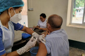 First dose of COVID vaccination continues for third day in Hlaingbwe
