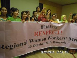 Regional Women Workers' Meeting 1 10232013
