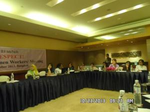 Regional Women Workers' Meeting 2 10232013