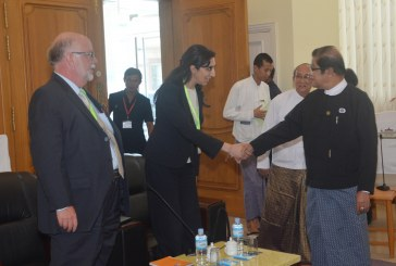 Deputy Speaker of Amyotha Hluttaw meets official of London-based Bingham Center for the Rule of Law
