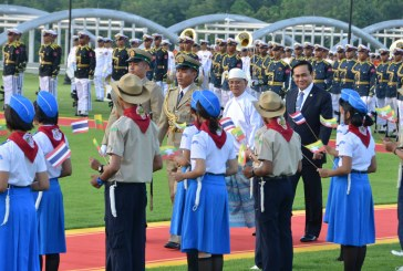 President U Thein Sein warmly welcomes Thai Prime Minister