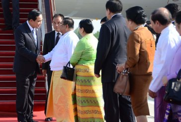Thai Prime Minister and wife arrive in Nay Pyi Taw