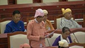 U Khaing Maung Yi of Ahlon Constituency.