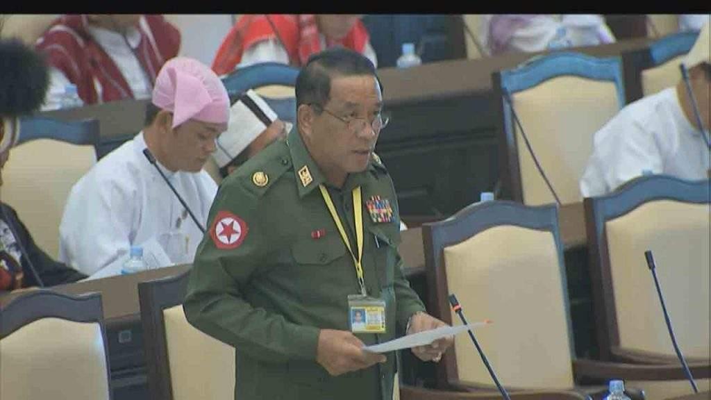 Deputy Minister for  Home Affairs Brig-Gen  Kyaw Kyaw Tun.—mna