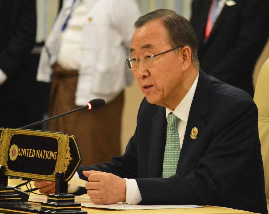 UN Secretary-General Mr Ban Ki Moon. Photo: Aye Min Soe