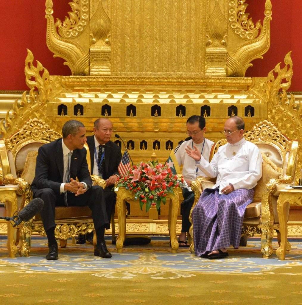 US President Barack Obama holds talks with President U Thein Sein.