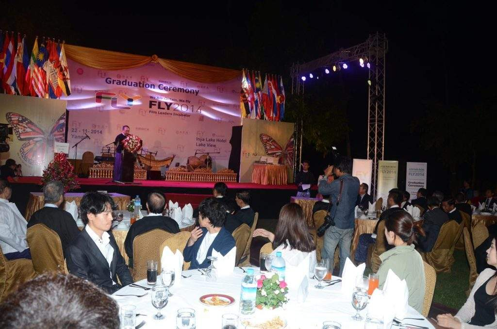 The closing ceremony of ASEAN-ROK Film Leaders Incubator: Fly Project 2014 in progress.—mna
