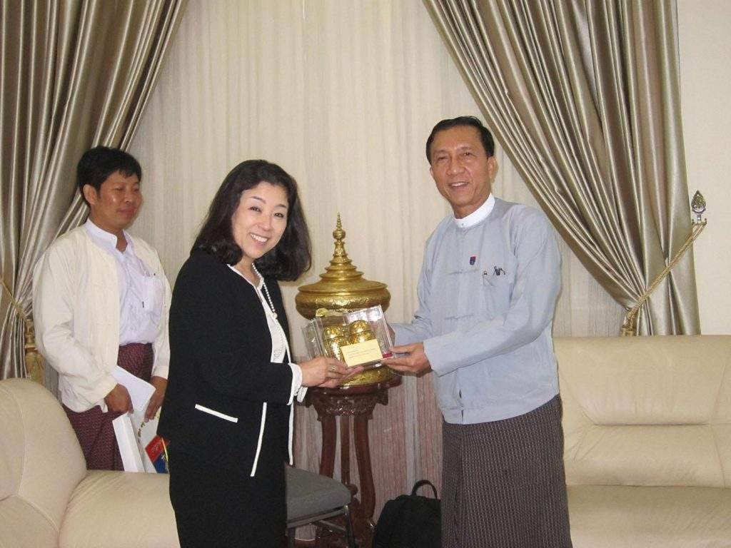 MIGA head Keiko Honda seen together with Union Minister for Finance U Win Shein during her three-day visit to Myanmar to underscore MIGA's commitment to helping the agency's newest member achieve its growth  potential. —Photo Provided