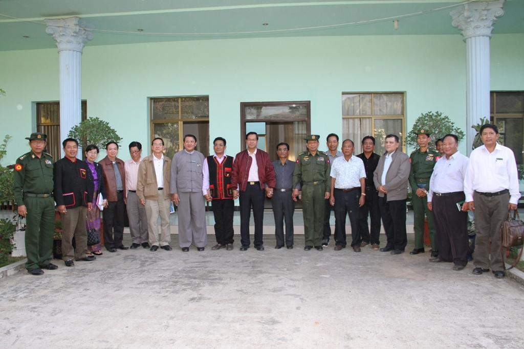 Union Minister at President Office U Hla Tun poses for documentary  phot in Kengtung.—mna