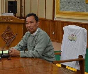 Speaker Thura U Shwe Mann delivers speech at workshop on tasks to be monitored in developing  annual budget