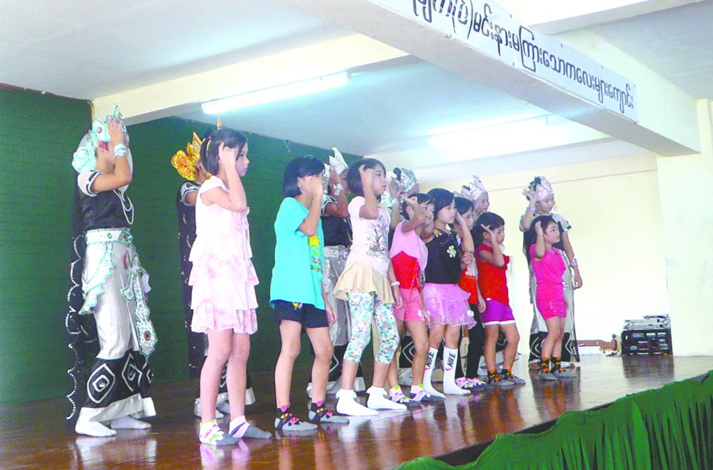 Students from Mary Chapman School for the Deaf entertain the audience with dance.—Photo: Khaing Thanda Lwin