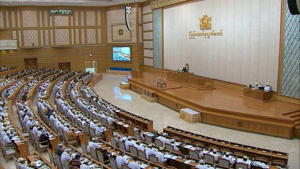 Pyidaungsu Hluttaw representatives focusing Union Budget bill.—mna