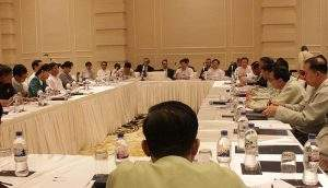 Union Minister U Soe Thane highlights Myanmar's entry to Open Government Partnership (OGP).—MNA