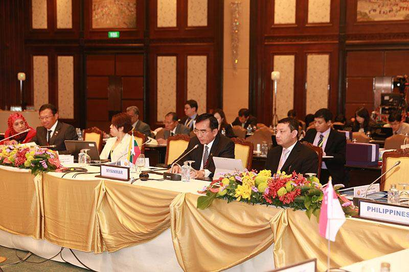 Union Minister U Myat Hein attends 14th ASEAN Telecommunications and IT Ministers' Meeting (14th TELMIN) in Bangkok, Thailand.
