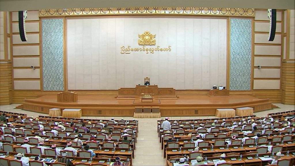 Representatives of Pyidaungsu Hluttaw focus on discussion  of referendum bill, suffrage of white card holders.