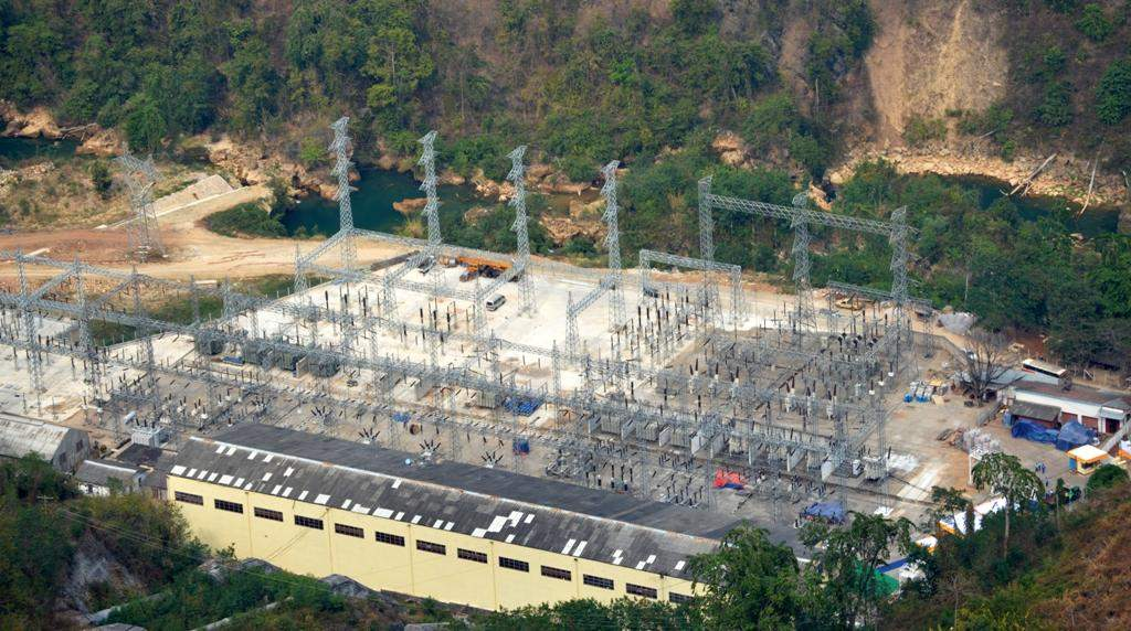 Photo of Baluchaung No.2 Hydropower Plant with installed capacity of 168 MW which serves as a major electric power source producing around 10 per cent of electricity generation in Myanmar.
