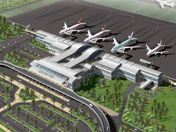 A conceptual design of the Hanthawaddy  International Airport submitted by Yongnam  CAPE-JGC Consortium.—Photo: Supplied by DCA