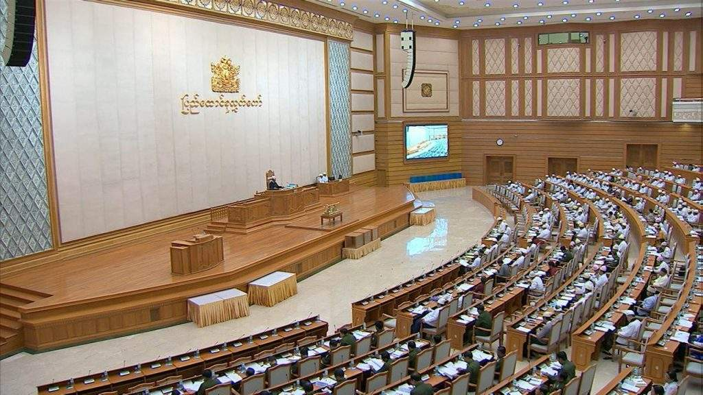 Twelfth day session of Pyidaungsu Hluttaw in progress.—mna