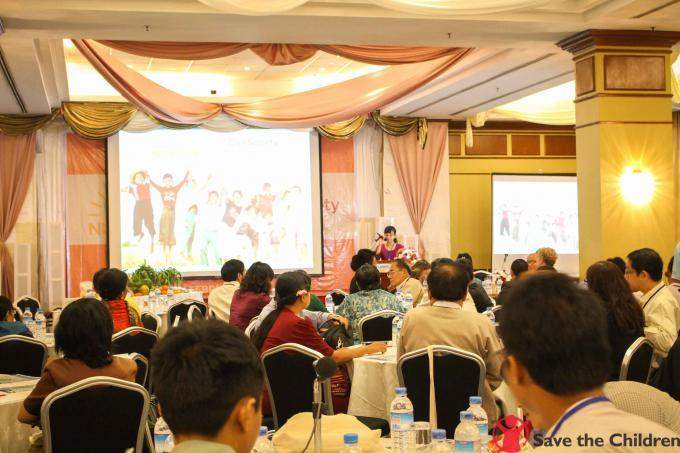 Launch of the Scaling Up Nutrition Civil Society Alliance (SUN CSA) hosted by the Save The Children in progress at Summit Parkview Hotel in Yangon on Tuesday.
