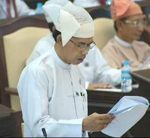 Chairman of Bill Committee  U Khin Maung Yi.