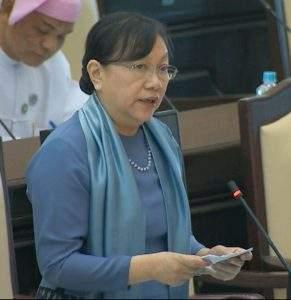 Union Minister for Education  Dr  Daw Khin San Yi.