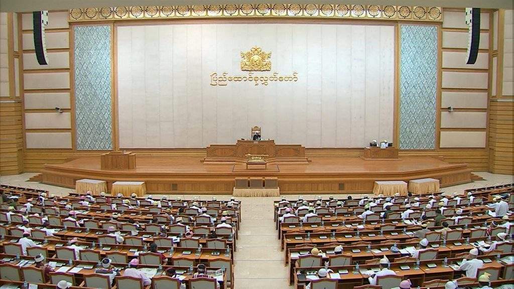 Representatives of Pyidaungsu Hluttaw debate schedule for salary increment for service personnel.—MNA