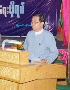 Union Peace Making Working Committee Vice Chairman U Aung Min.