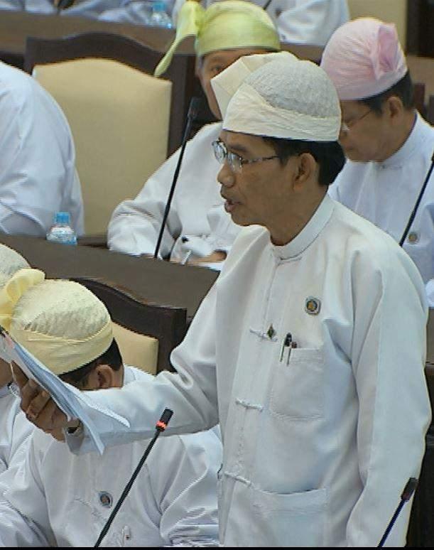 Chairman of Amyotha Hluttaw Bill Committee U Khin Maung Yi.