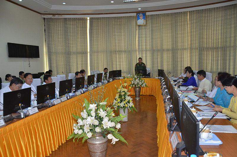 The meeting on compilation of human rights report in progress.—mna