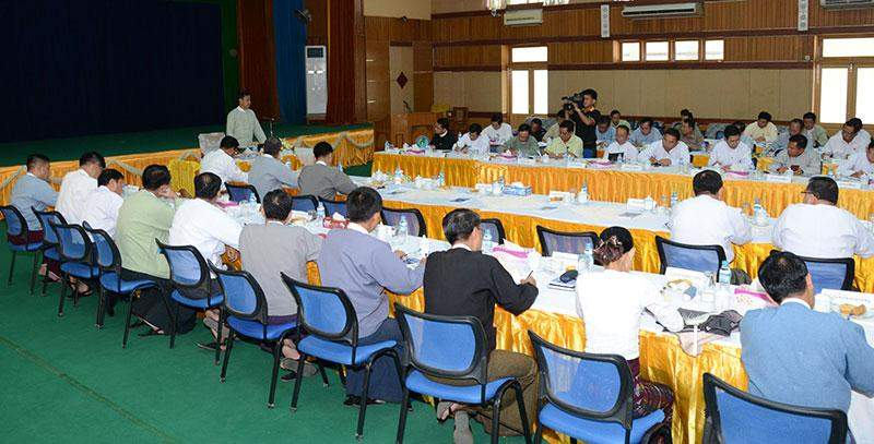 Union Minister for Information  U Ye Htut highlights release of information by ministries concerned. MNA