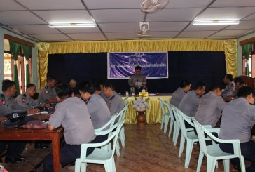 Lectures on electoral security process given to police officers