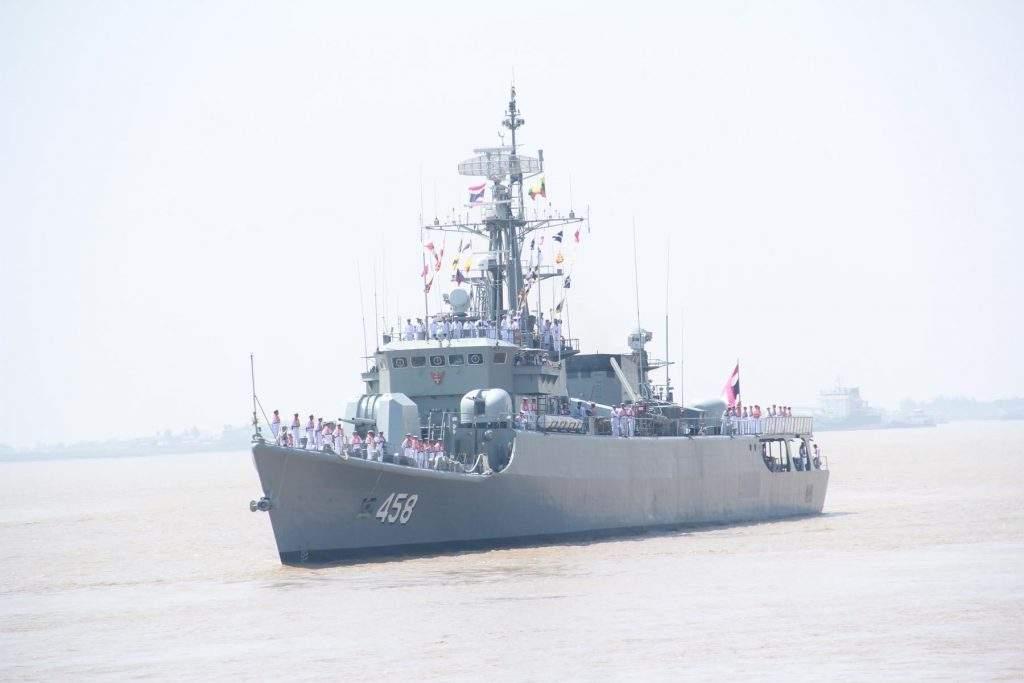 Photo shows HTMS Saiburi FF-458, a naval vessel of the Royal Thai Navy.—Min Thit