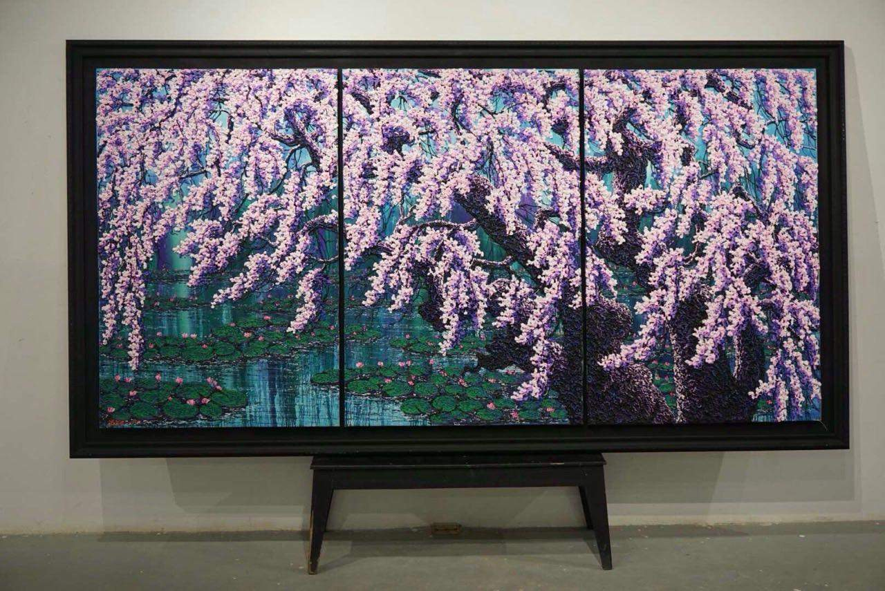 A 3D painting created by Artist Soe Soe (Labutta) will be on display for sale at Yangon Gallery.