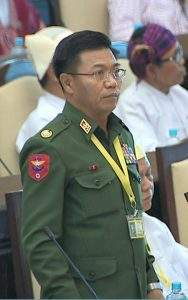 Deputy Minister  Brig-Gen Kyaw Zan Myint.