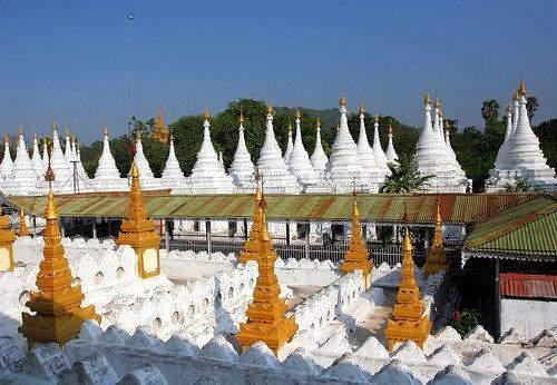 Maha Lawka Marazein Kuthodaw Pagoda located in 300 metres southeast of Mandalay Hill.